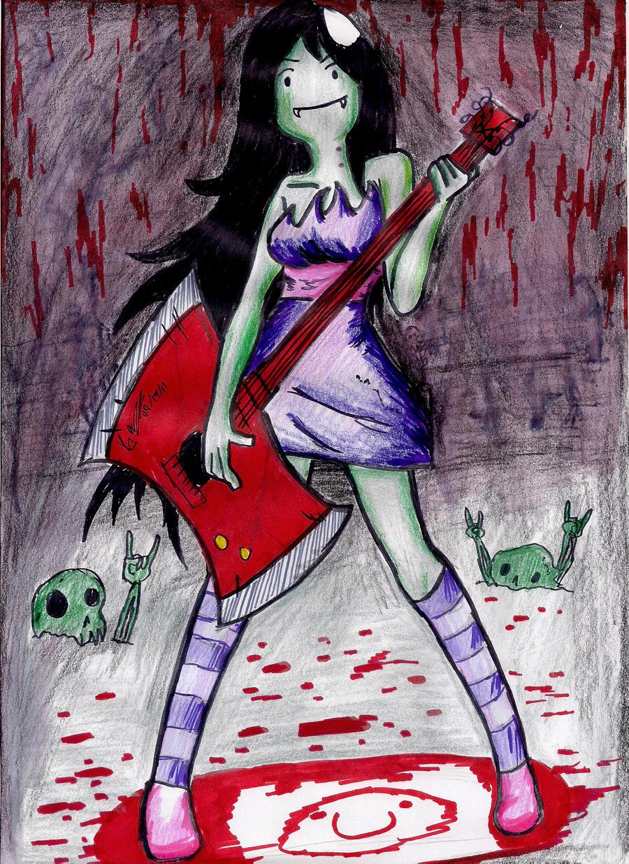 Marceline the Vampire Queen by hewhowalksdeath