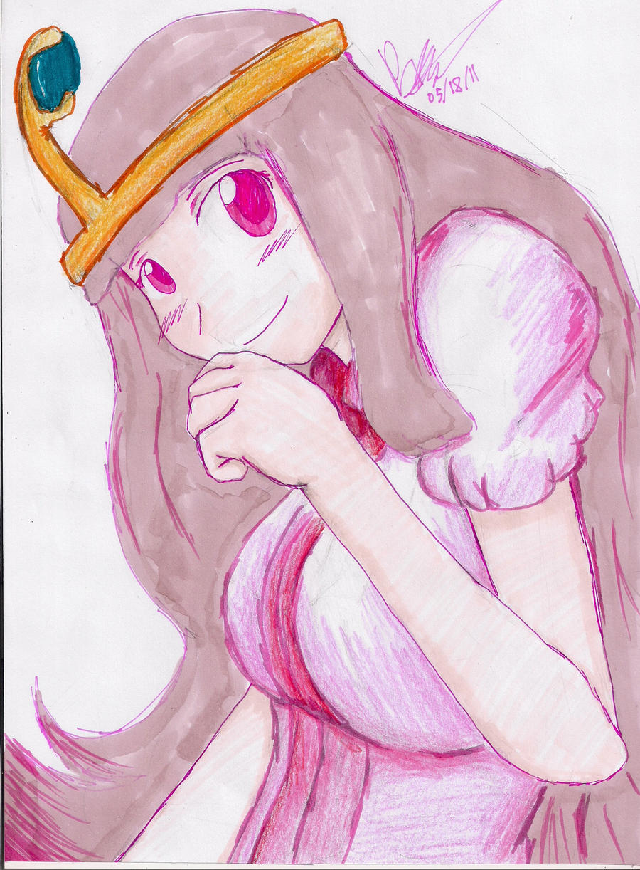 Princess Bubblegum by hewhowalksdeath
