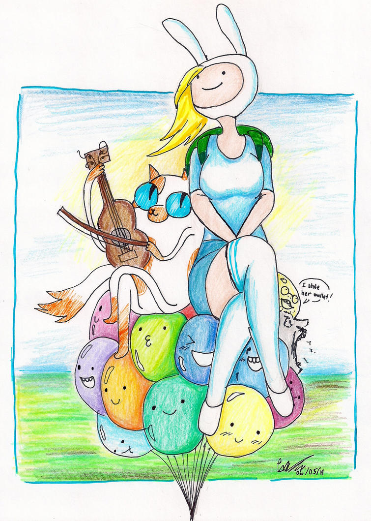 Fionna and Cake by hewhowalksdeath