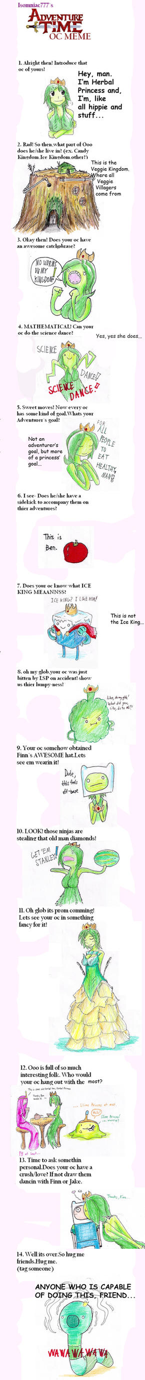 Adventure Time OC meme by hewhowalksdeath