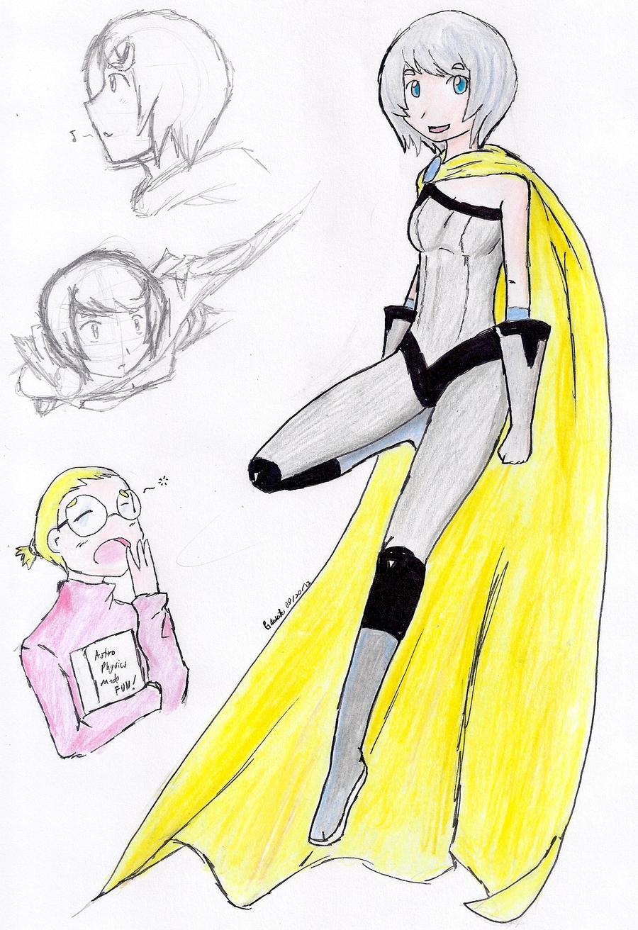 Random Superhero Light-streak by hewhowalksdeath