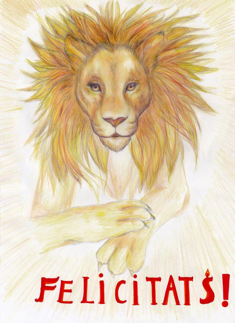 Golden lion by Sinchanpelman