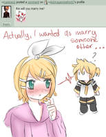 Rin, will you marry me? (Question 6) by AskKagamineRin02