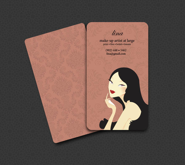 Make up artist business card by gothangel on deviantart for Painting artist business cards
