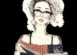 Vintage_Girl_Nerd_PNG_by_ValerieSun_