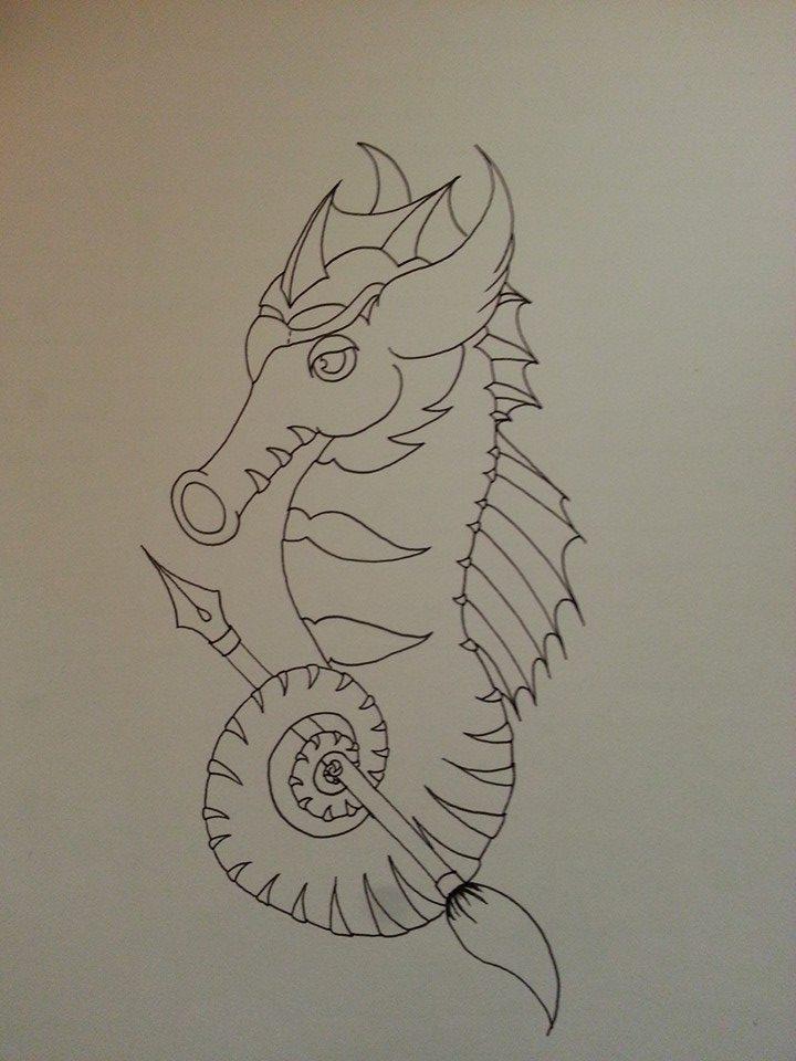 Seahorse mascot by Xoore