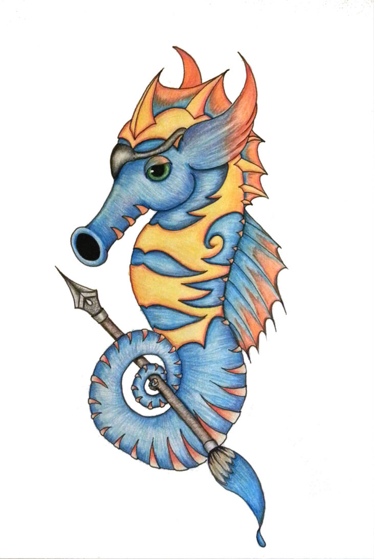 Seahorse mascot design by Xoore