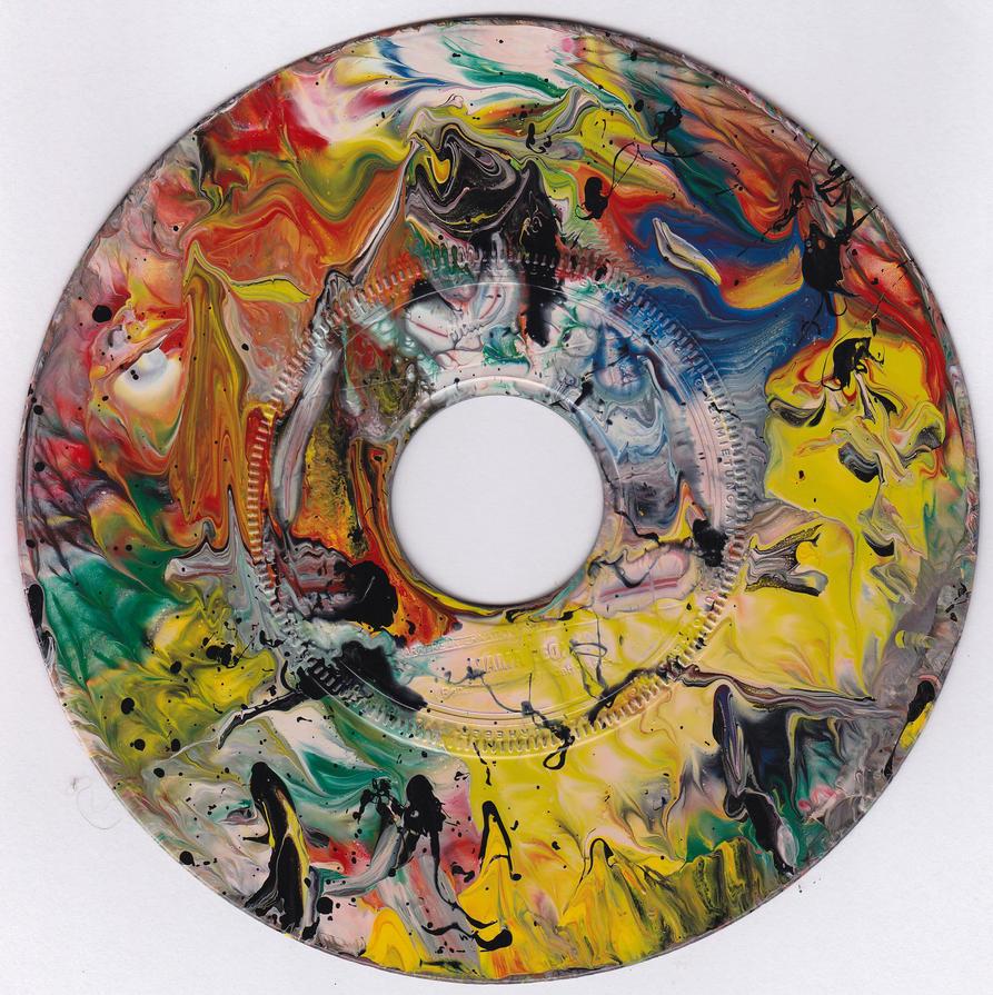 #41vs Lee Astreel painting on vinyl record 7'' by MentisPenetralia