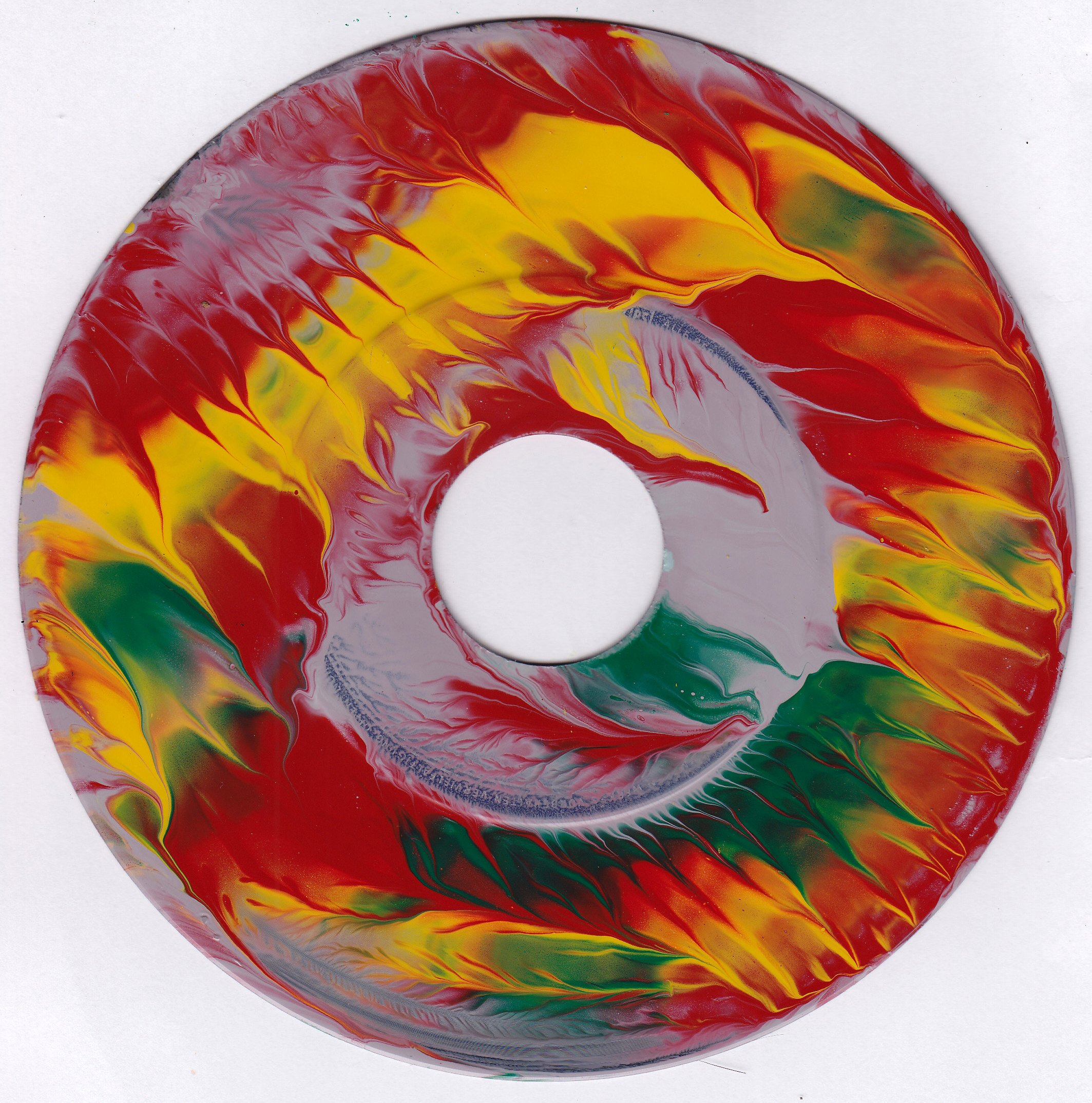 #29vs Lee Astreel painting on vinyl record 7''