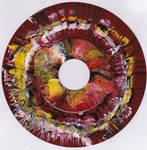 #45vs Lee Astreel painting on vinyl record 7''