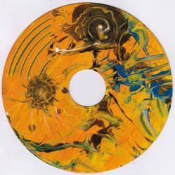 #65vs Lee Astreel painting on vinyl record 7''