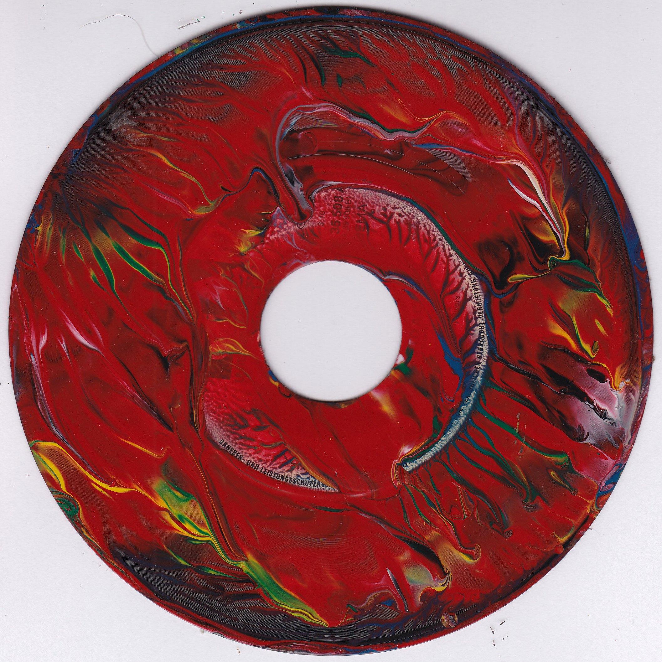 #63vs Lee Astreel painting on vinyl record 7''
