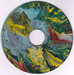 #60vs Lee Astreel painting on vinyl record 7''