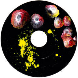 #26vs Lee Astreel painting on vinyl record 7''