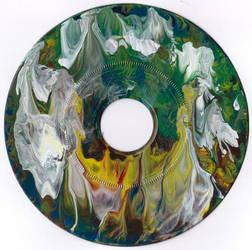 #50vs Lee Astreel painting on vinyl record 7''