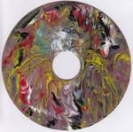 #62vs Lee Astreel painting on vinyl record 7''