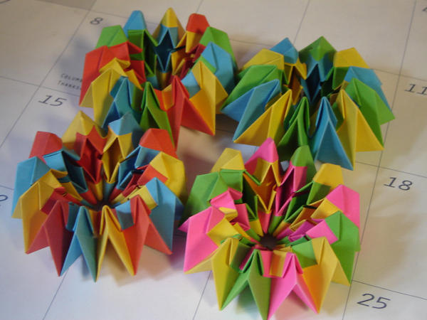 how to make an origami firework step by step