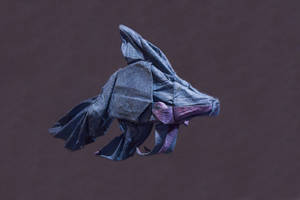Origami Lokta Tissue Betta Fish