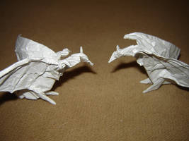 Origami Wyverns by KamiWasa