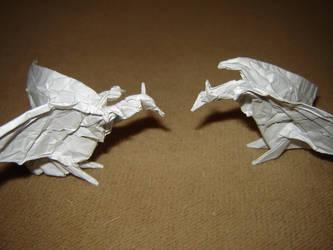 Origami Wyverns by KamiWasa