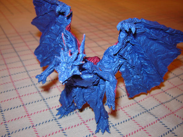 Origami Divine Dragon  Bahamut by KamiWasaOrigami Divine Dragon