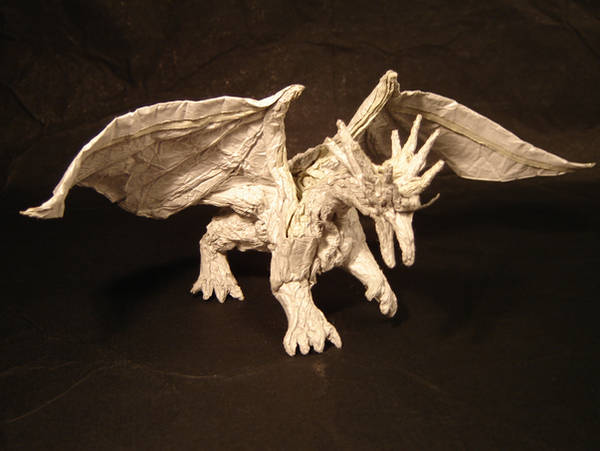 Origami Ancient Dragon by KamiWasa