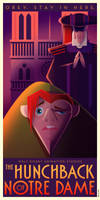 The Hunchback of Notre Dame Art Deco poster