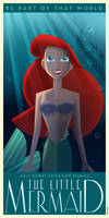 The Little Mermaid Art Deco poster
