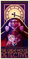 The Great Mouse Detective Art Deco Poster