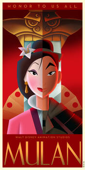 Mulan Art Deco Poster