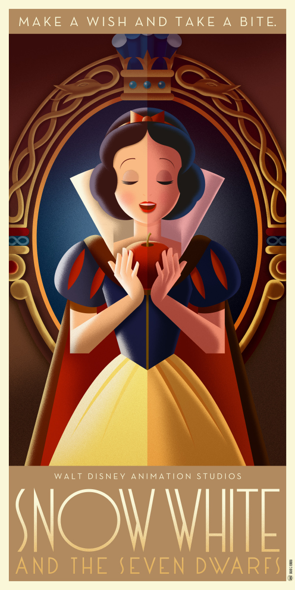Snow white art deco poster by davidgferrero on deviantart for Buy art posters online