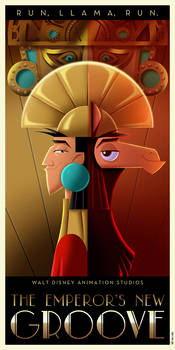 The Emperor's New Groove Art Deco poster