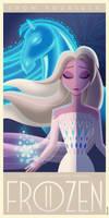 Frozen II Art Deco poster