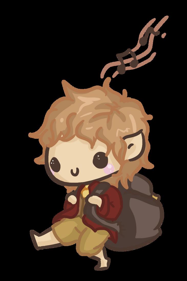 Chibi: Bilbo by Ijen-Ekusas
