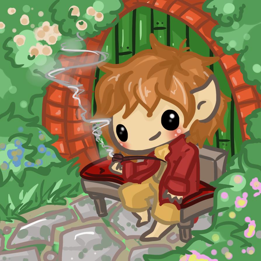 Chibi: Hobbit Scene- Bilbo by Ijen-Ekusas