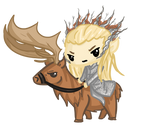 Request: Thranduil and his Elk~!