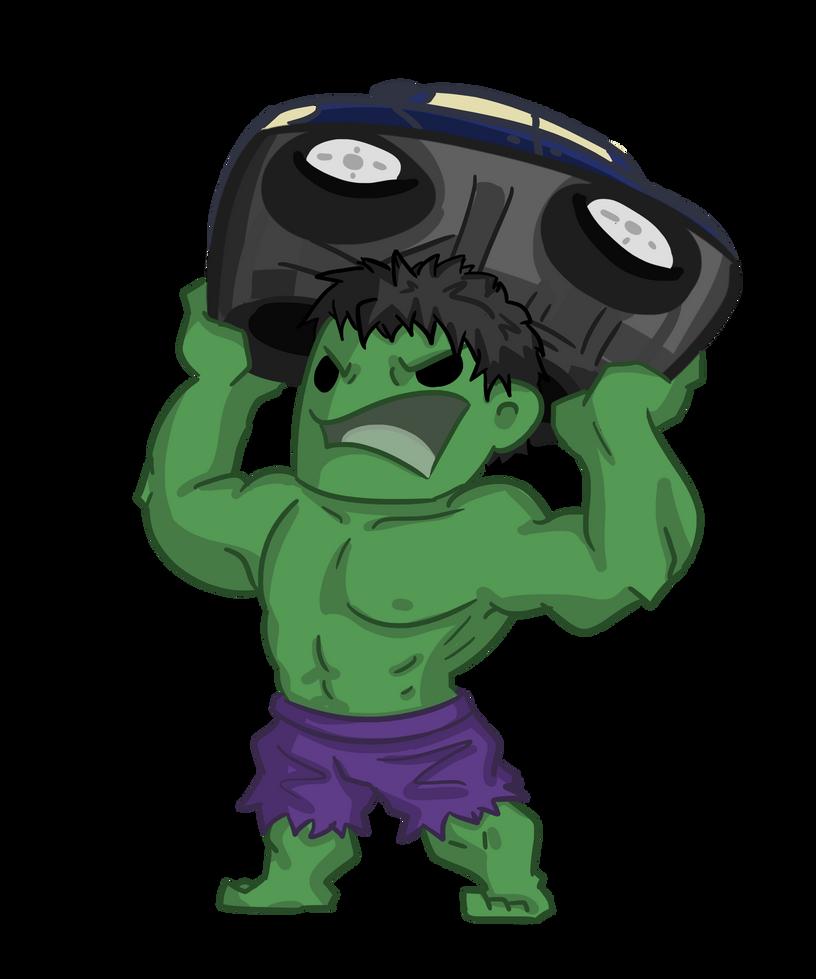 Hulk Painted Car