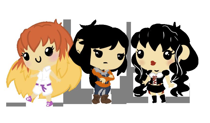Commission: Ericka, Jessica and Evalynn by Ijen-Ekusas
