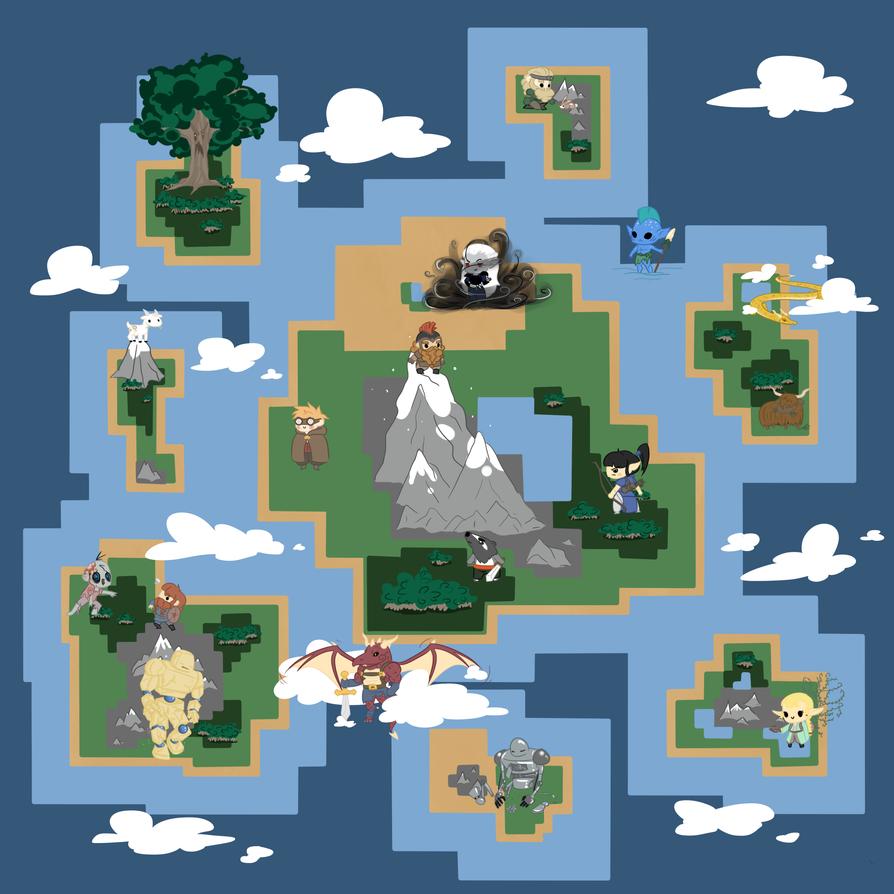 Commission- Fantasy Map by Ijen-Ekusas