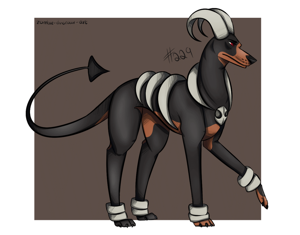 220214 - Houndoom by AlaBo