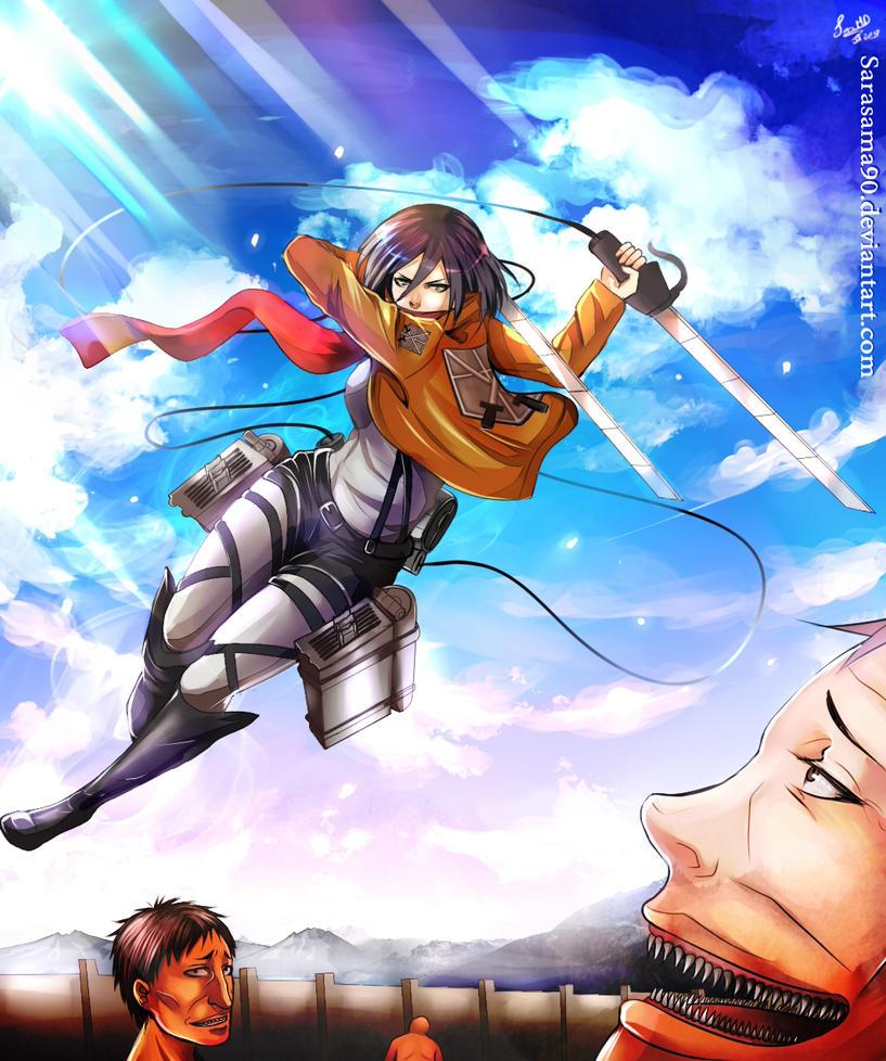 SNK: Mikasa Ackerman by SaraSama90