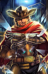 Overwatch: McCree by SaraSama90