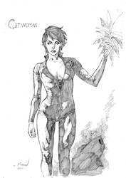 Another catwoman sketch by robsonrocha