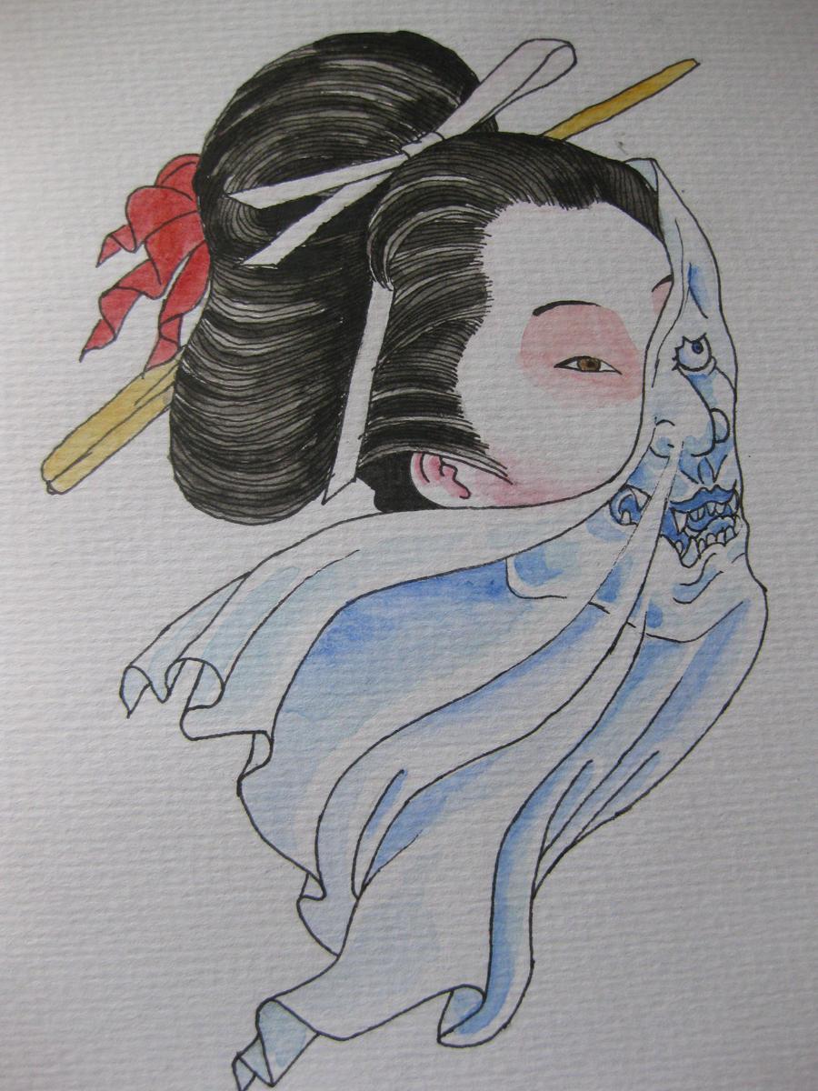 geisha tattoo design by
