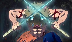 Fan Art of Inosuke Hashibira From Demon Slayer