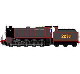 Bertha (Midland Railway Livery,Black) by XDhahah