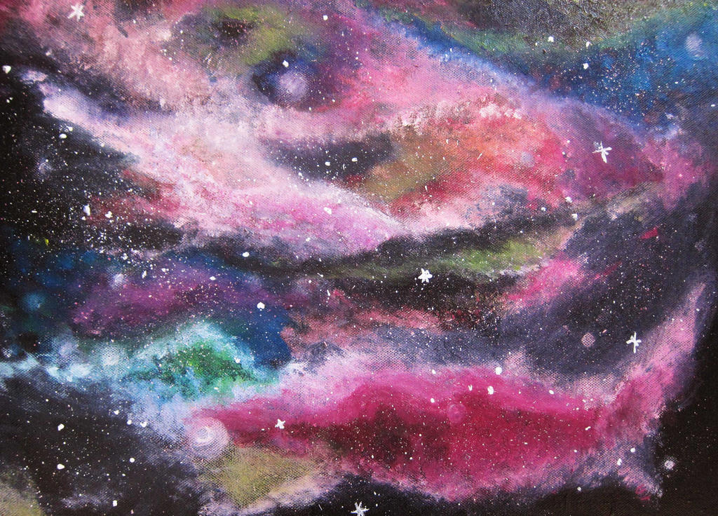 Galaxy Artwork colorful galaxy by fee...