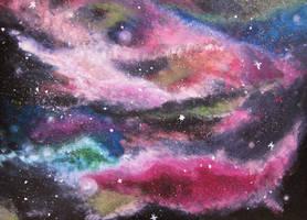 colorful galaxy by feeora