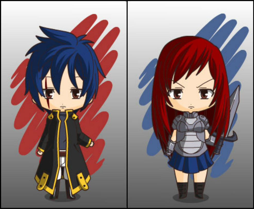 Jellal and Erza - Fairy Tail by PIXEL-and-NASAL on DeviantArt