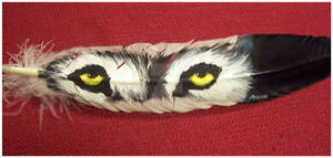 Feather Painting- Wolf Eyes